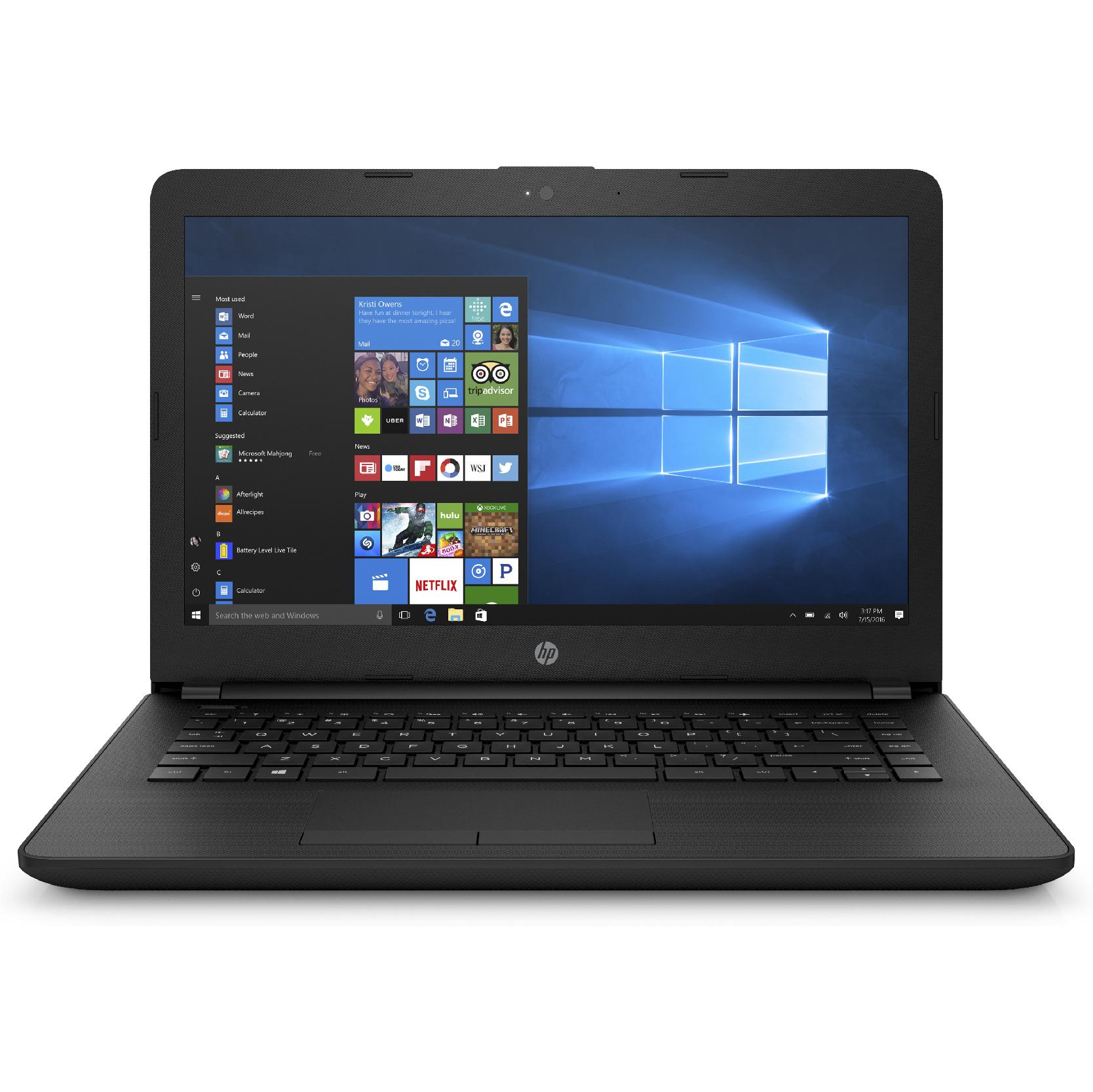 HP 14-bs014na Celeron N3060  14.0 HD AG  4GB  1TB  No ODD  Jet Black DF  W10H62