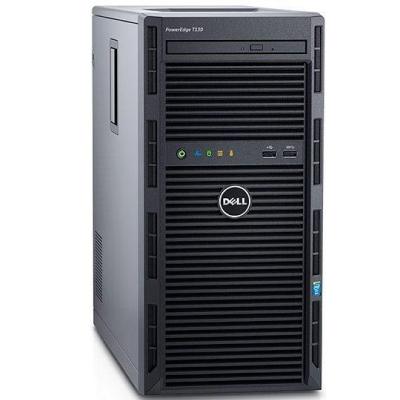Dell PowerEdge T130 Chassis 4 x 3.5 Xeon E3-1230 v6 8GB 1x2TB Bezel DVD RW On-Board LOM DP PowerEdgeRC H330 iDRAC8 Bas 3YRS2