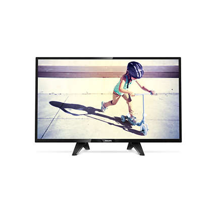 Philips Ultra Slim LED TV  32 32PHS4132 12 HDR 1366x768p 280cd PPI-200Hz 2xHDMI USB(AVI MKV) DVB-T T2 T2-HD C S S2, 16W, C:Black2