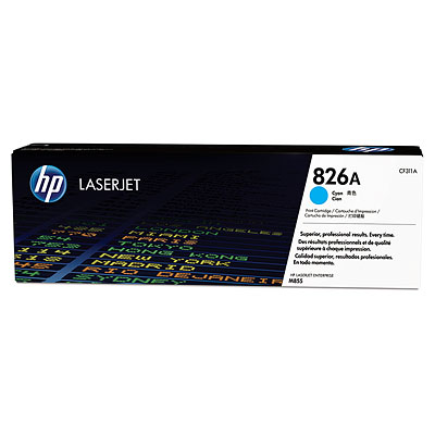 HP 826A for CLJ Enterprise M855 series Toner Cyan (31.500 pages)2