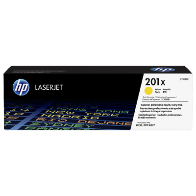 HP 201X High Yield Yellow Original LaserJet Toner Cartridge 2,300 pages2