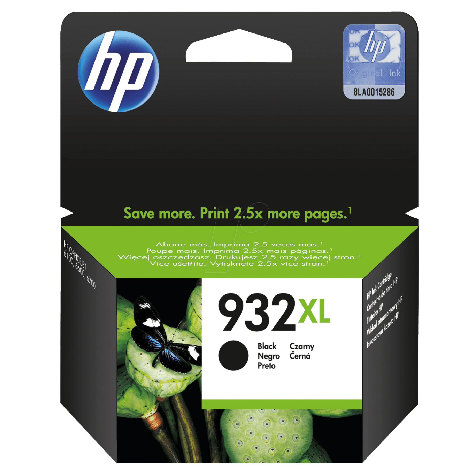 HP no.932XL Ink. Cart. for Officejet 6700 / 7110 Black 1.000 pag