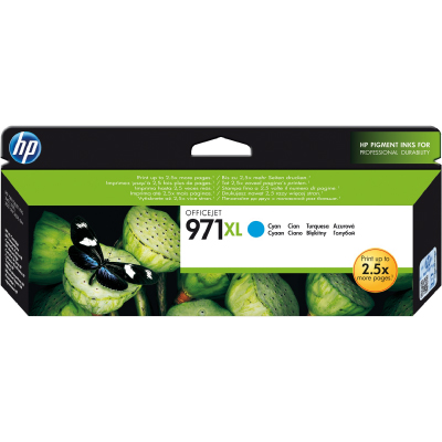 HP no.971XL Cyan Ink Cart. for Officejet Pro X series (6.600page