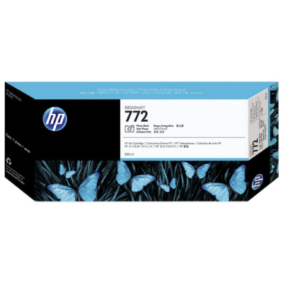 HP 772 Black photografic DesignJet  Ink Cart, 300 ml, CN633A