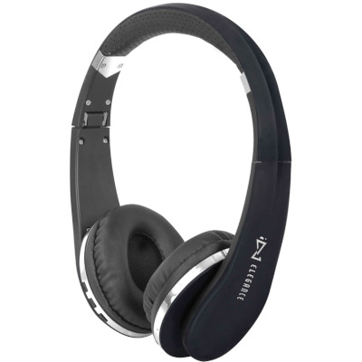 TREVI DJ1200BTBLACK BLUETOOTH HEADPHONES WITH MICROPHONE, BLACK, Smartphones compatible, Bluetooth V2.1 + EDR2