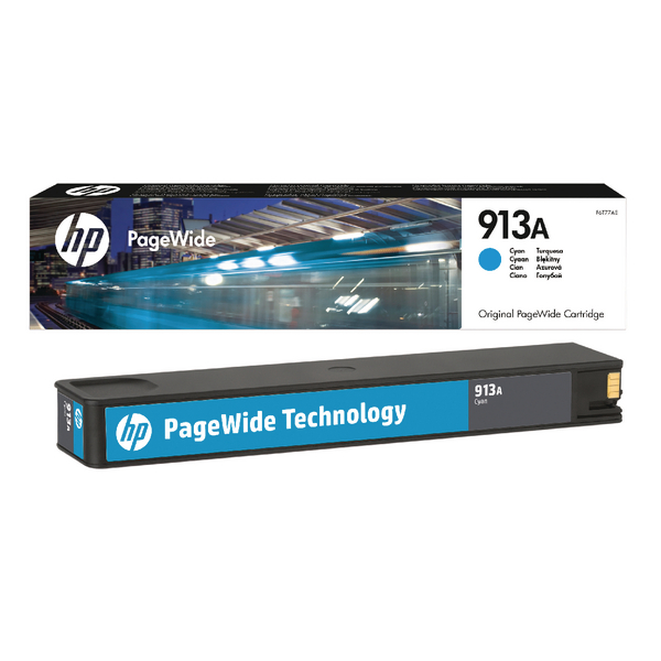 HP 913A Cyan Original PageWide Cartridge (3.000 pages)