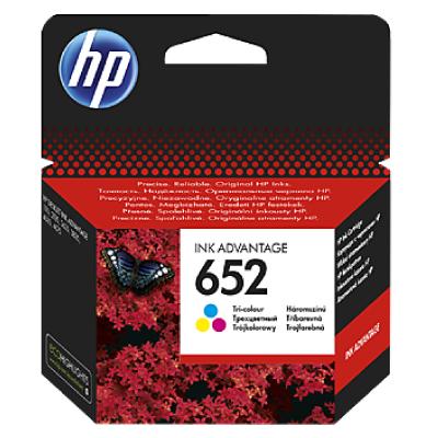 HP 652 Tri-color Original Ink Advantage Cartridge (200 pages)