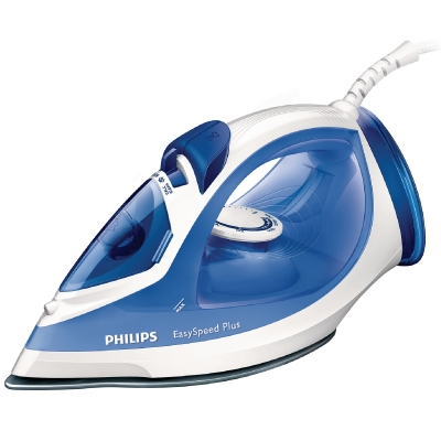 Philips EasySpeed Steam iron GC2046 20 Steam 35g min;110g steam boost Ceramic soleplate Safety Auto off + Anti-calc 2200 W2