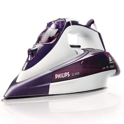 Philips Steam iron GC4420; 2400W - 40g min - 100 g min SOS  -  Auto Shutt Off - White Purple2