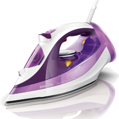 Philips Azur Performer Plus Steam iron GC4510 30 Steam 45g min;170g steam boost SteamGlide Plus soleplate Anti-calc 2400 Watts2
