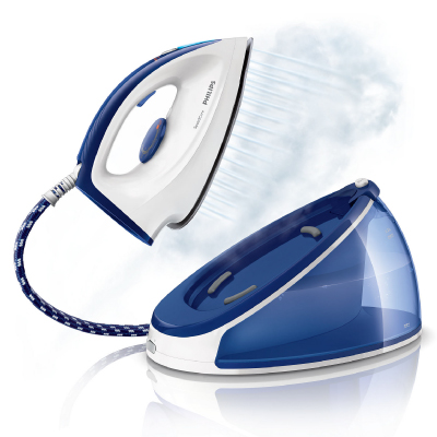 Philips Steam generator iron GC6621 Max 4.3 bar pump pressure steam boost up to 140 g 1.2 L fixed watertank Carry Lock2