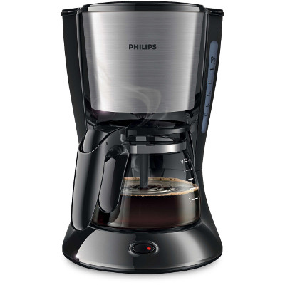 Philips Daily Collection Coffee maker HD7435 20 With glass jug Black amp; metal2