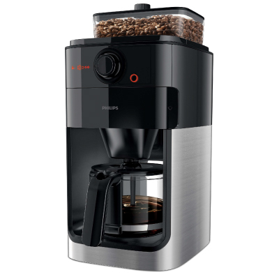 Philips Coffee maker HD7761 00 With glass jug Grind and Brew System Black metal2