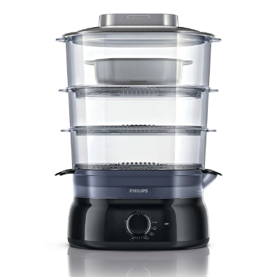 Philips Daily Collection Steamer HD9126 00 9 L, 900 W Manual timer Aroma Infuser, soup rice bowl Plastic, Black2