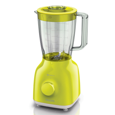Philips Daily Collection Blender HR2100 40 400 W 1.5 L plastic jar 2 speed and pulse ProBlend 4, Lime Yellow color