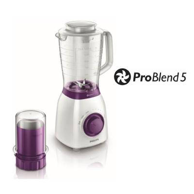 Philips Viva Collection Blender HR2163 00 600 W 2 L plastic jar Multiple speeds and pulse ProBlend 52
