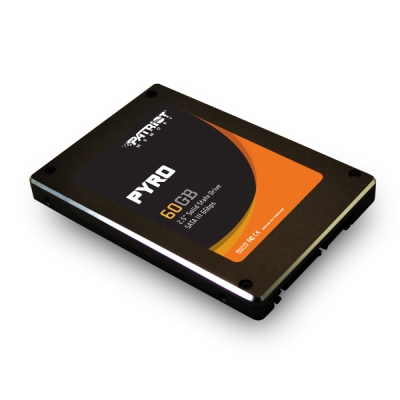 Patriot Pyro 60Gb SSD Drive 2.5 R W 520MB 490MB SATA RETAIL2