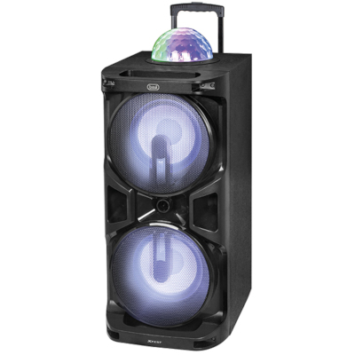 TREVI XF1700 AMPLIFIED SPEAKER BLUETOOTH amp; KARAOKE, 120W, 2x microphones input, LED blue display2